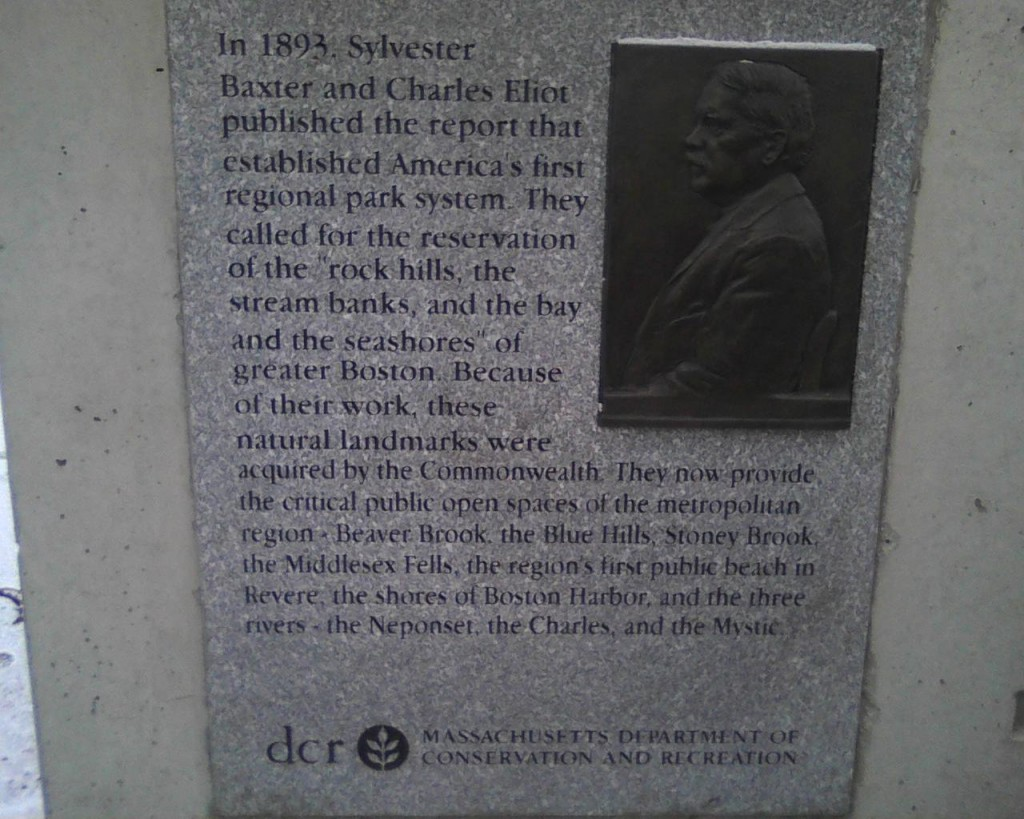 Sylvester Baxter plaque in Malden