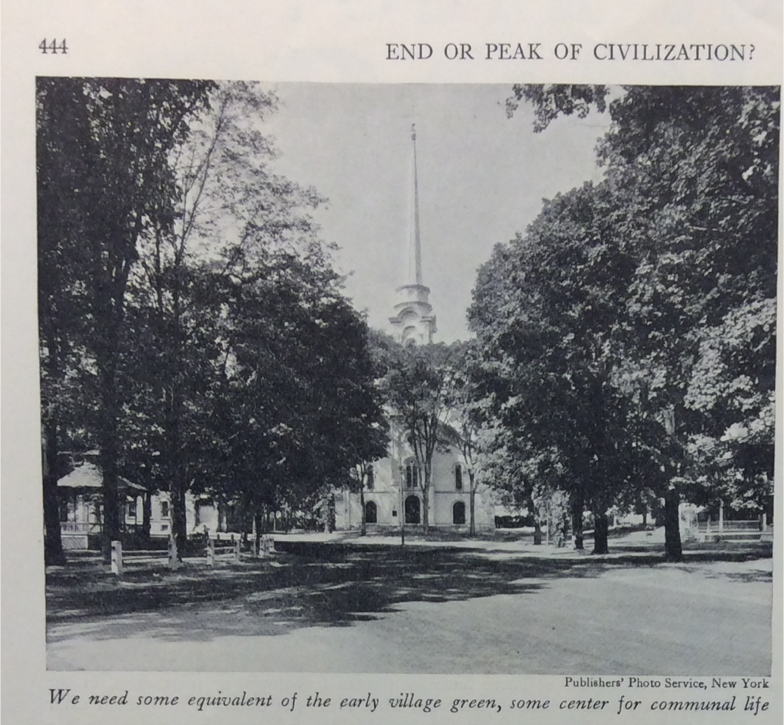 "Photo and caption in Benton MacKaye, ""End or peak of civilization?"" Survey Graphic, October 1932"