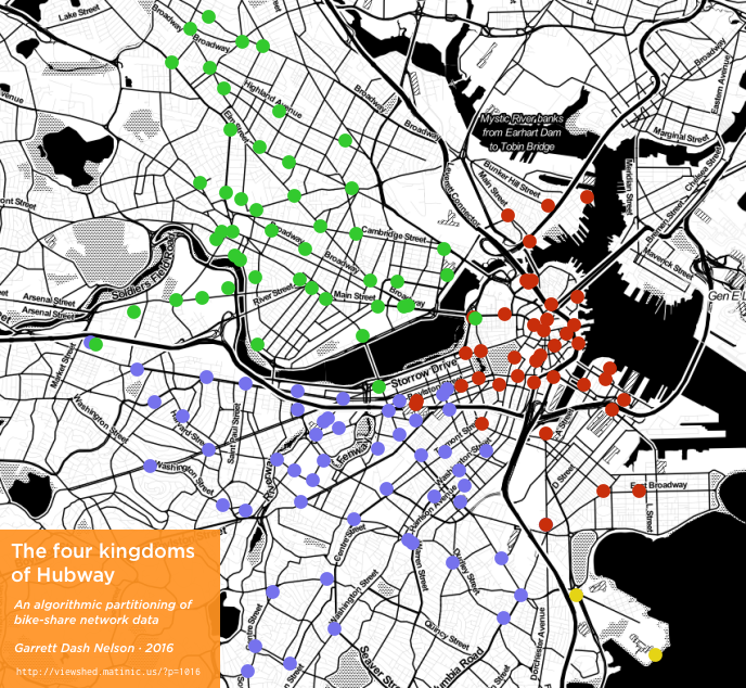 Natural communities of Hubway bike patterns